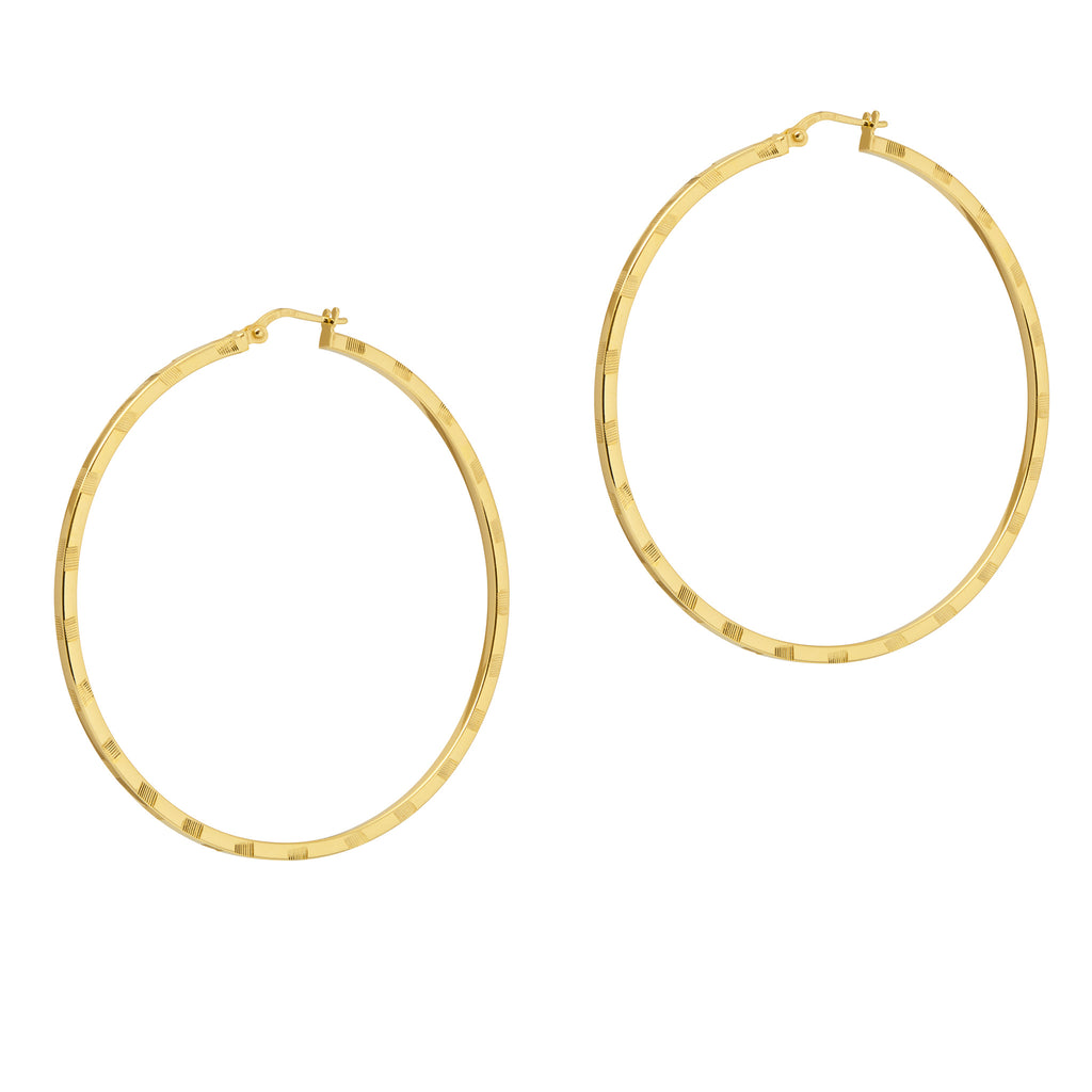 La VERONA hoops - Gold - Georgiana Scott Jewellery