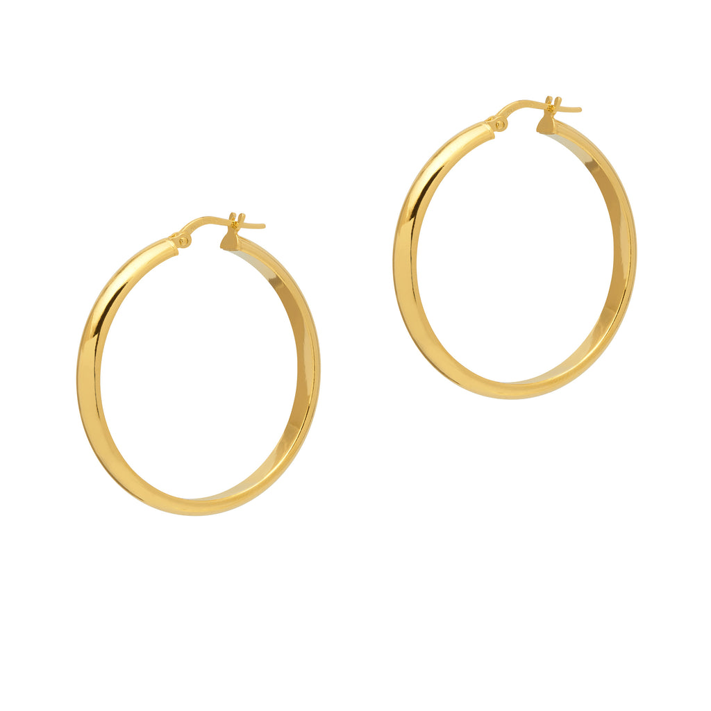 La CONVEX CURVA Hoops - Gold - Georgiana Scott Jewellery