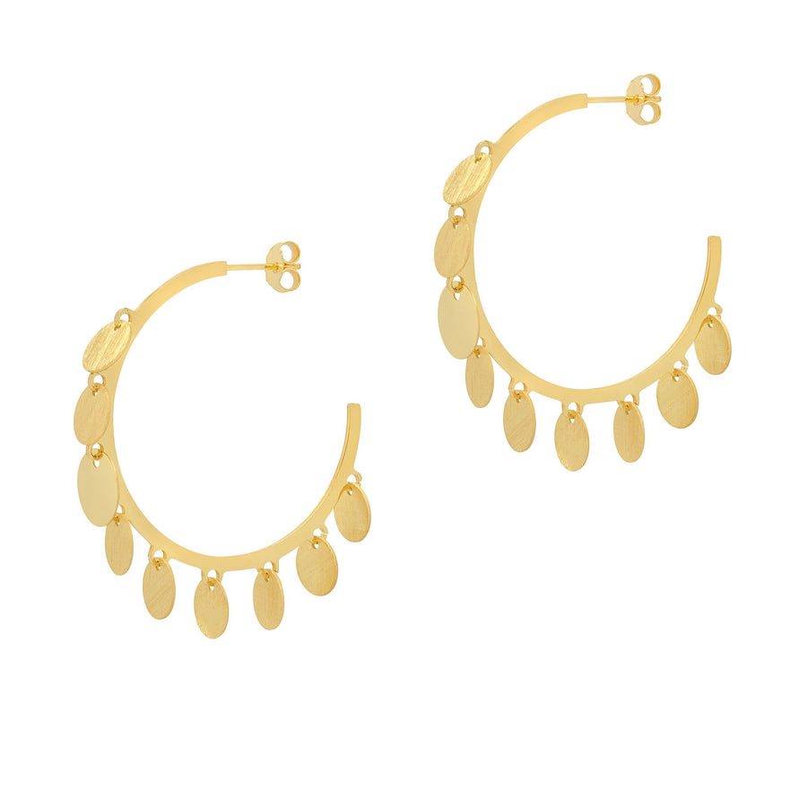 La CHA CHA Satina Discs - Gold - The Hoop Station 925 Sterling Silver Hoop Earrings Gold Huggies
