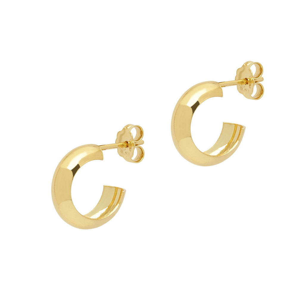 La CURVA Rose Gold Huggies - Georgiana Scott Jewellery