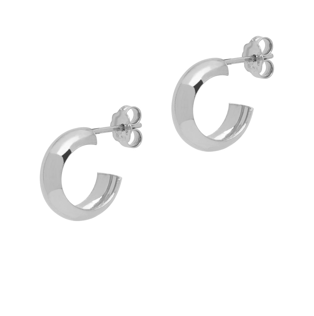 La CURVA Huggies - Silver - Georgiana Scott Jewellery