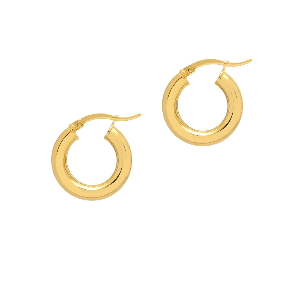 La MINI CURVACEOUS Hoops - Gold - Georgiana Scott Jewellery