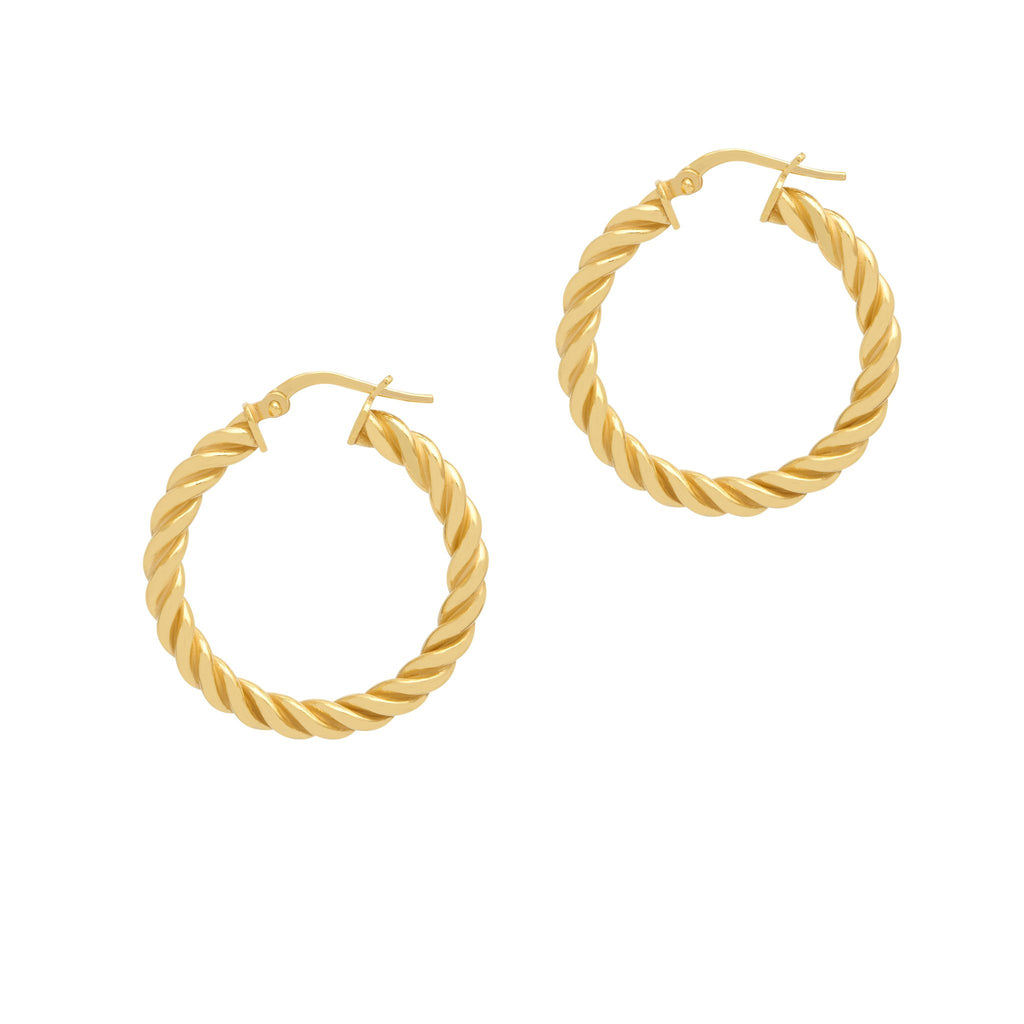 La SPIRALE Hoops - Gold or Silver - Georgiana Scott Jewellery