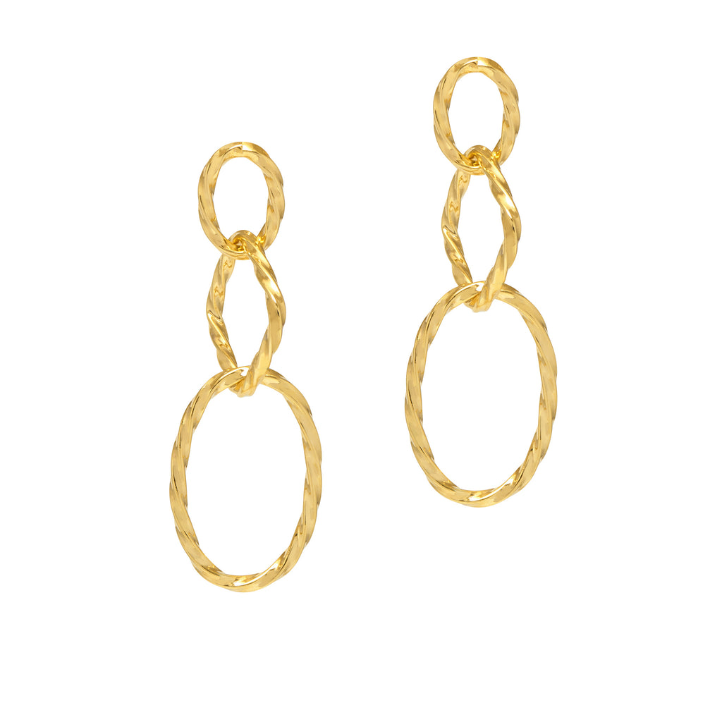 La CHISELLED CHAINS - Gold - Georgiana Scott Jewellery