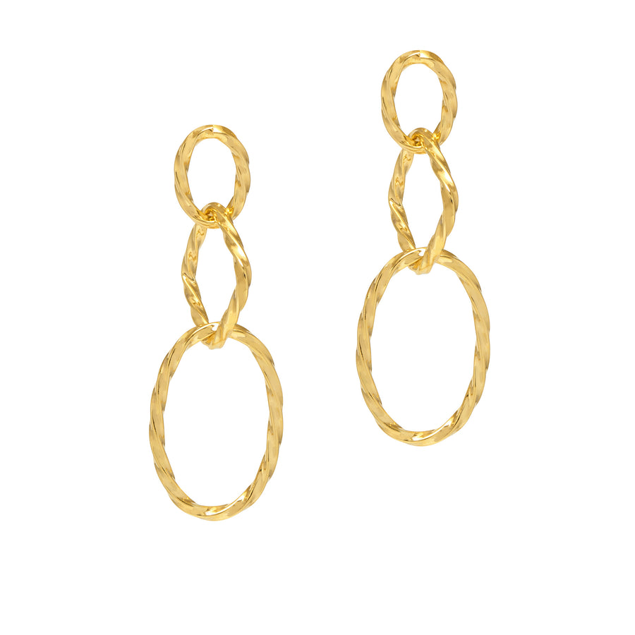 La TWISTED CATENA Drop Earrings Gold
