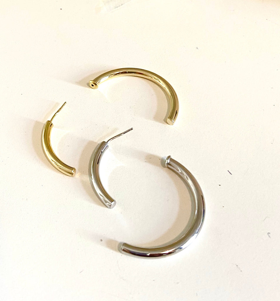 La INCOMPLETO Clasp - Hoops (Silver or Gold) - Georgiana Scott Jewellery
