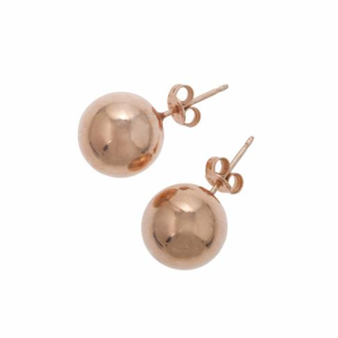 La ROTONDA Studs - Rose Gold - Georgiana Scott Jewellery