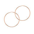 La CHICA LATINA Rose Gold Medio Hoops
