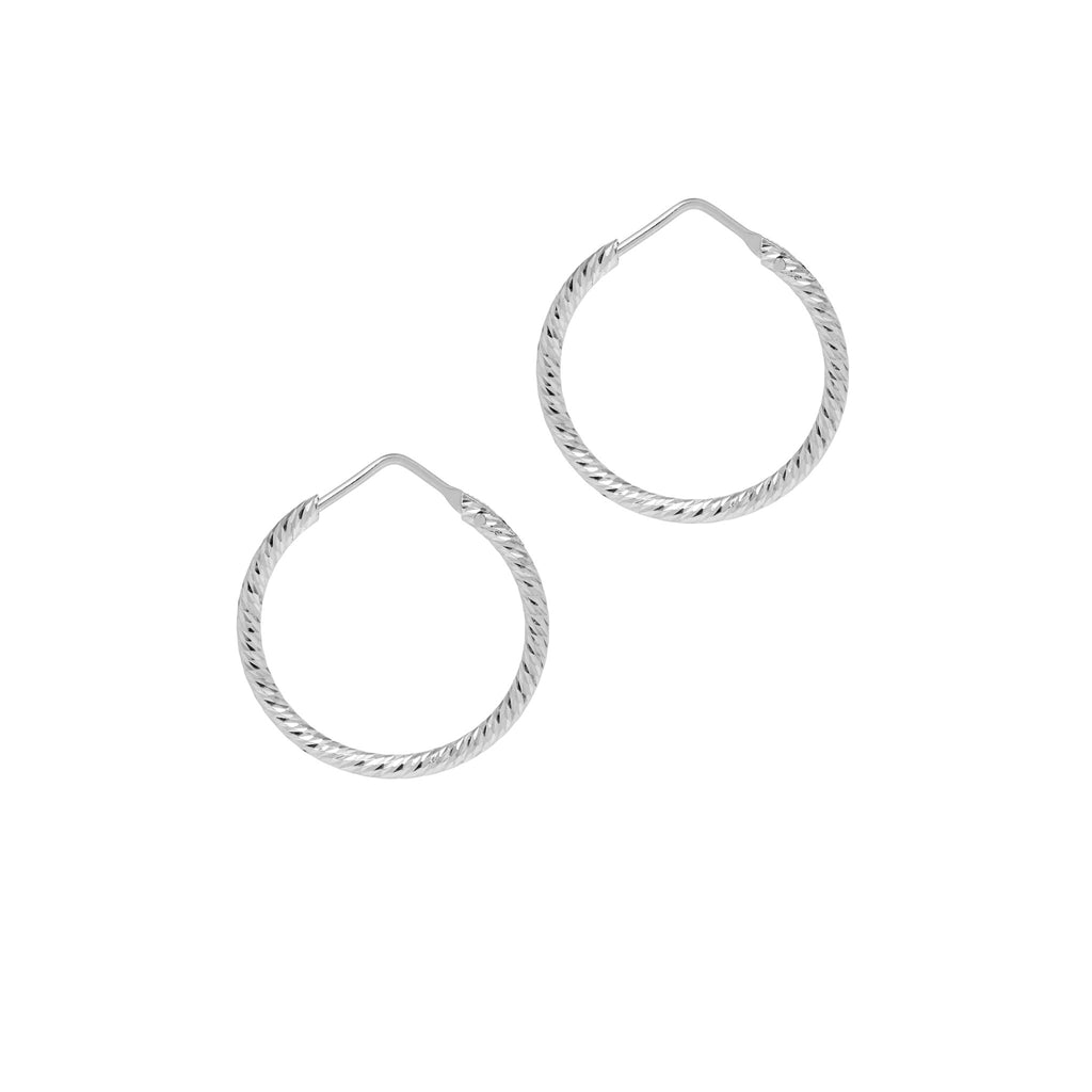 La ROMA Hoops Small Silver - Georgiana Scott Jewellery