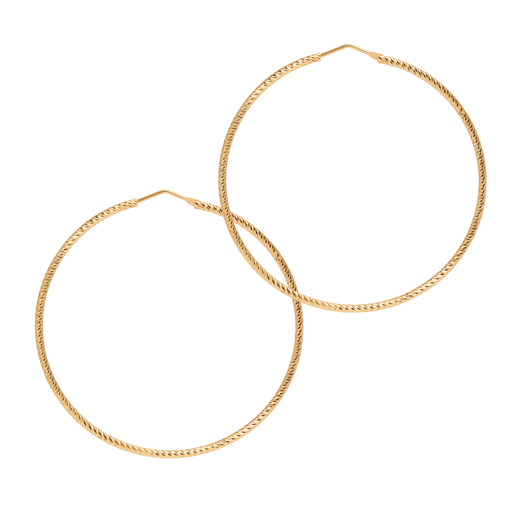 La ROMA Hoops Extra Large Gold - Georgiana Scott Jewellery
