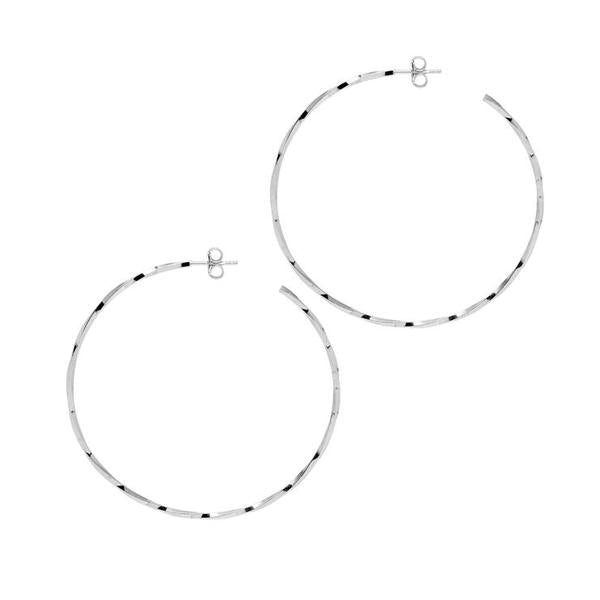 La LAGO di COMO Hoops Silver - Georgiana Scott Jewellery