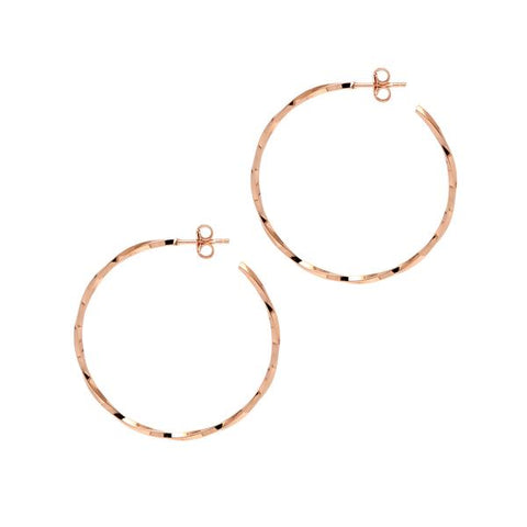 La LAGO di COMO Hoops Rose Gold