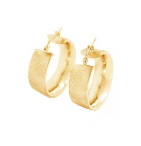 La SATINA CUFF Hoops - The Hoop Station 925 Sterling Silver Hoop Earrings Gold Huggies