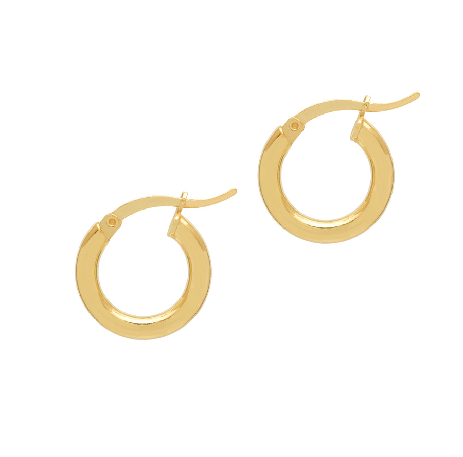 La GRANDE RIMINI Huggies - Gold - Georgiana Scott Jewellery
