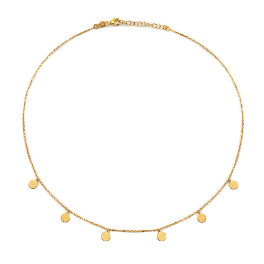 La 6 x DISCS Necklace - Gold