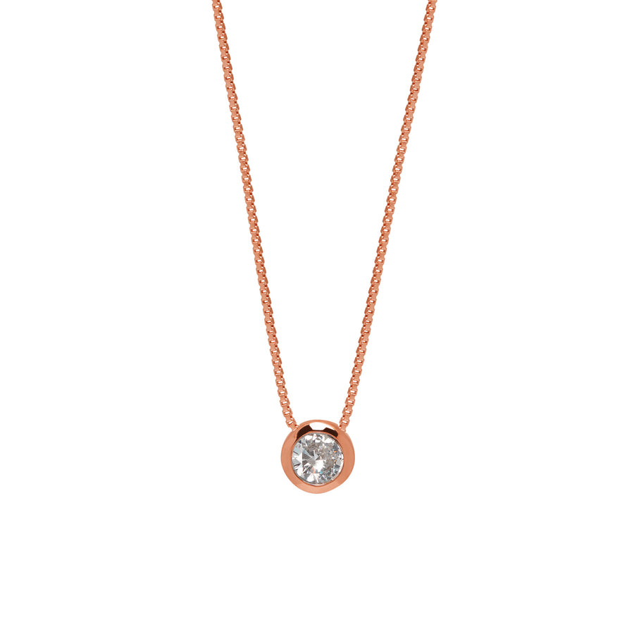 La DIAMANTE DISCO Necklace - Rose Gold