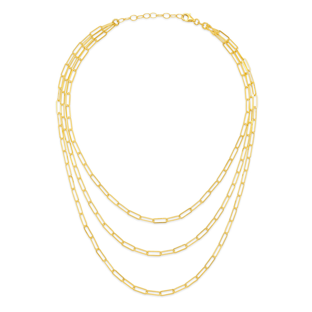 La CATENA 3 Tier 'Chain' Necklace - Georgiana Scott Jewellery