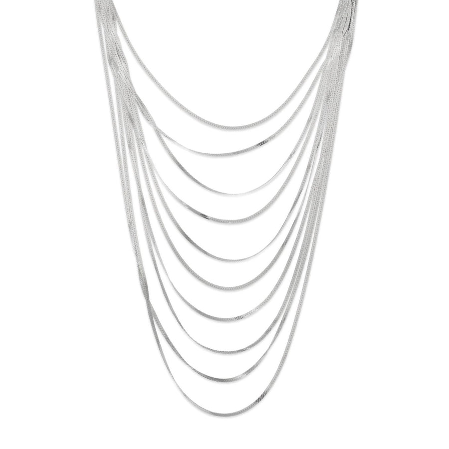 La MULTI STREAMER Necklace - Silver
