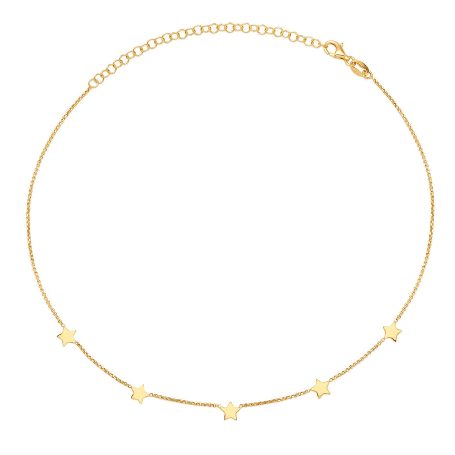 La STELLA 'Star' Choker - Gold - Georgiana Scott Jewellery
