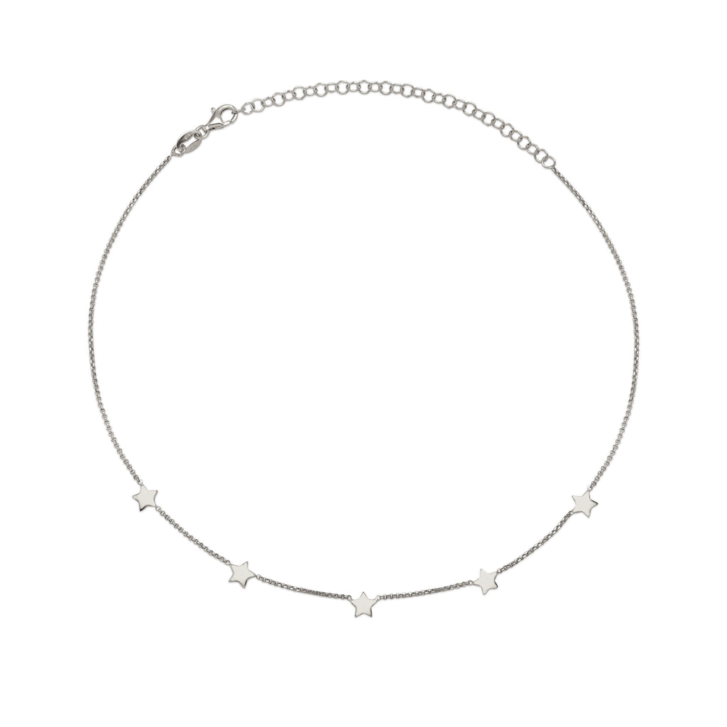 La STELLA 'Star' Choker - Silver - Georgiana Scott Jewellery
