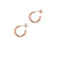 La NAPOLI Rose Gold Piccolo Hoops