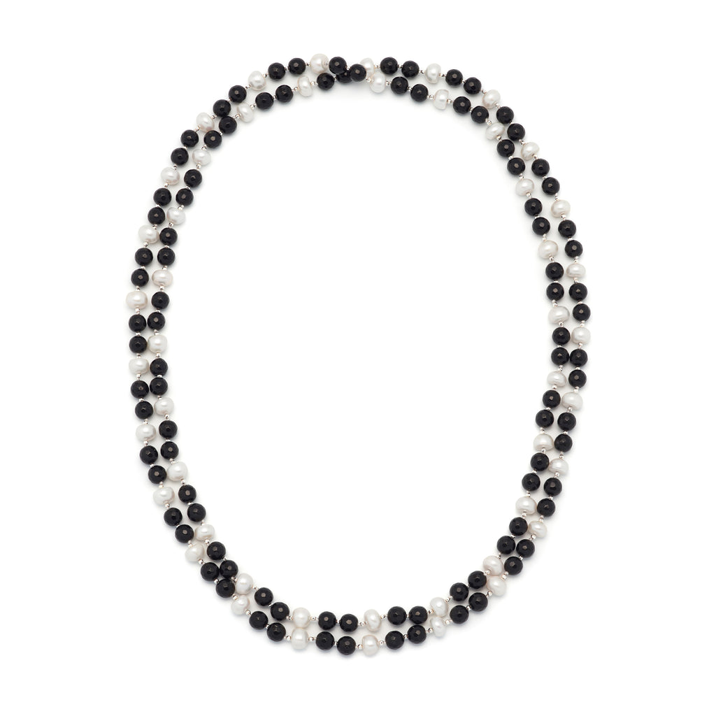 La ELSA ONYX - Pearl Necklace - Georgiana Scott Jewellery