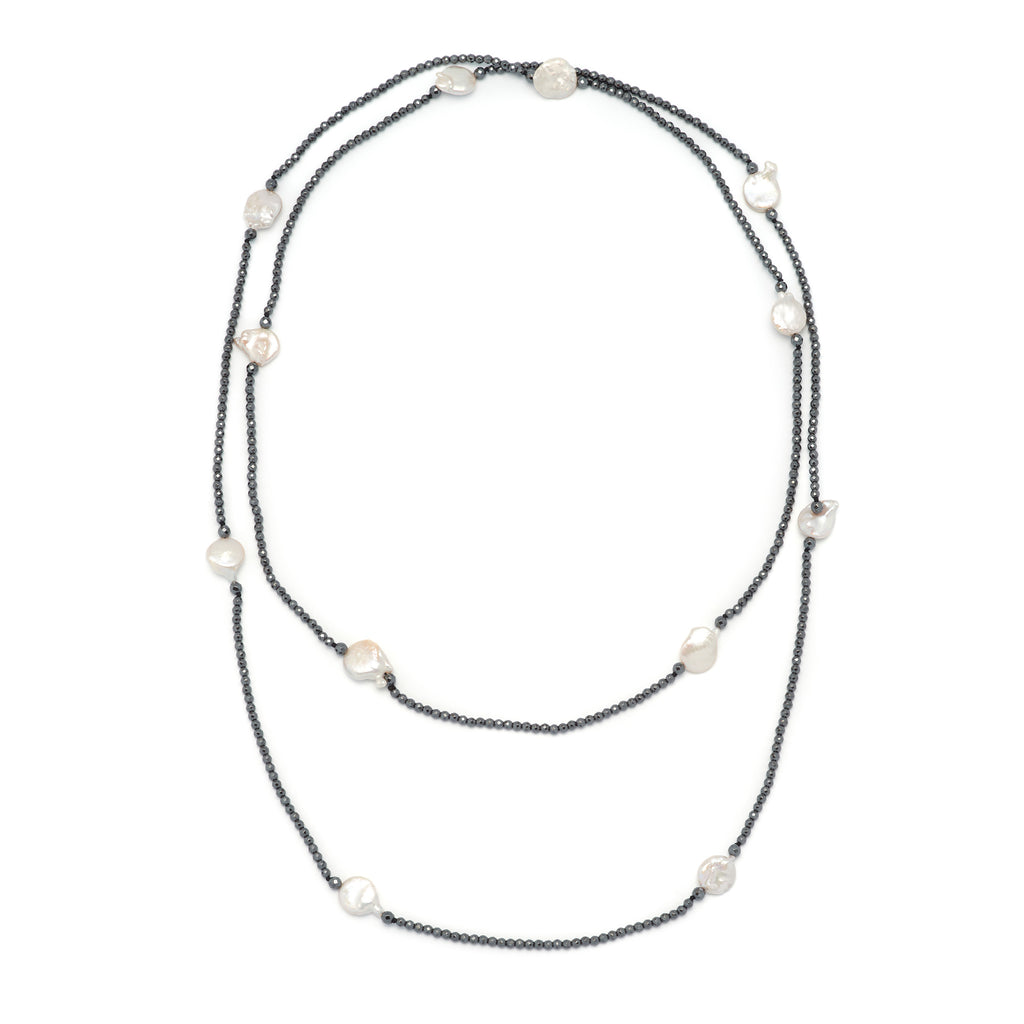 La ELSA INFINITA PERLA - Pearl Necklace - Georgiana Scott Jewellery