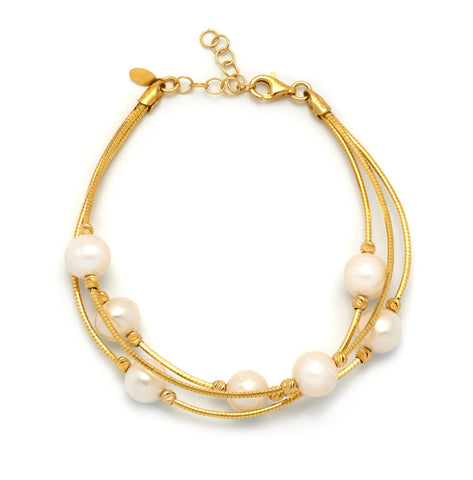 La PERLA-on-WIRE Bracelet Gold