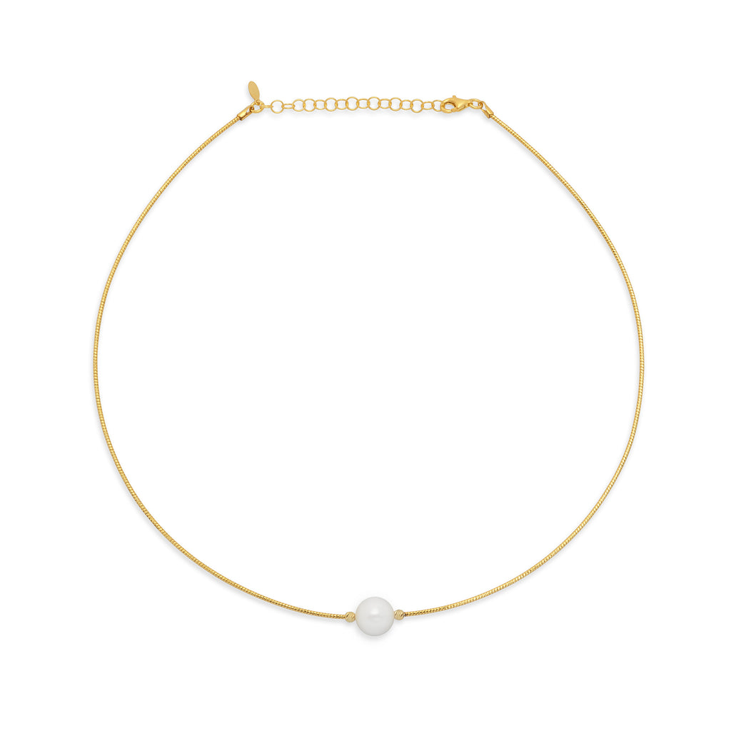 La PERLA-On-WIRE Necklace (1 Row) - Georgiana Scott Jewellery