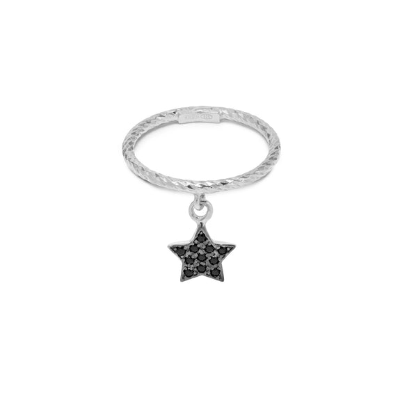 La STELLA DROP ring - Adjustable (Silver)
