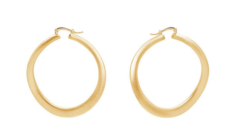 La SATINA WAVE REVERSO Hoops Gold