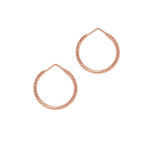 La ROMA Hoops Rose Gold