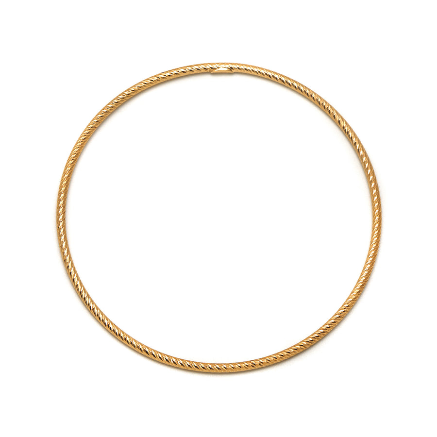 La ROMA Diamond-cut Bangle Rose Gold