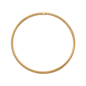 La ROMA diamond-cut Bangle - Gold