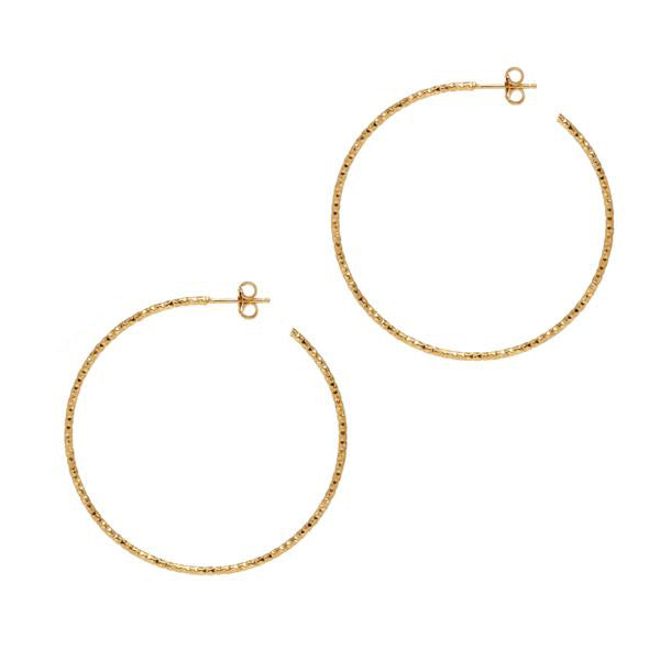 La SARDEGNA Hoops Rose Gold - Georgiana Scott Jewellery