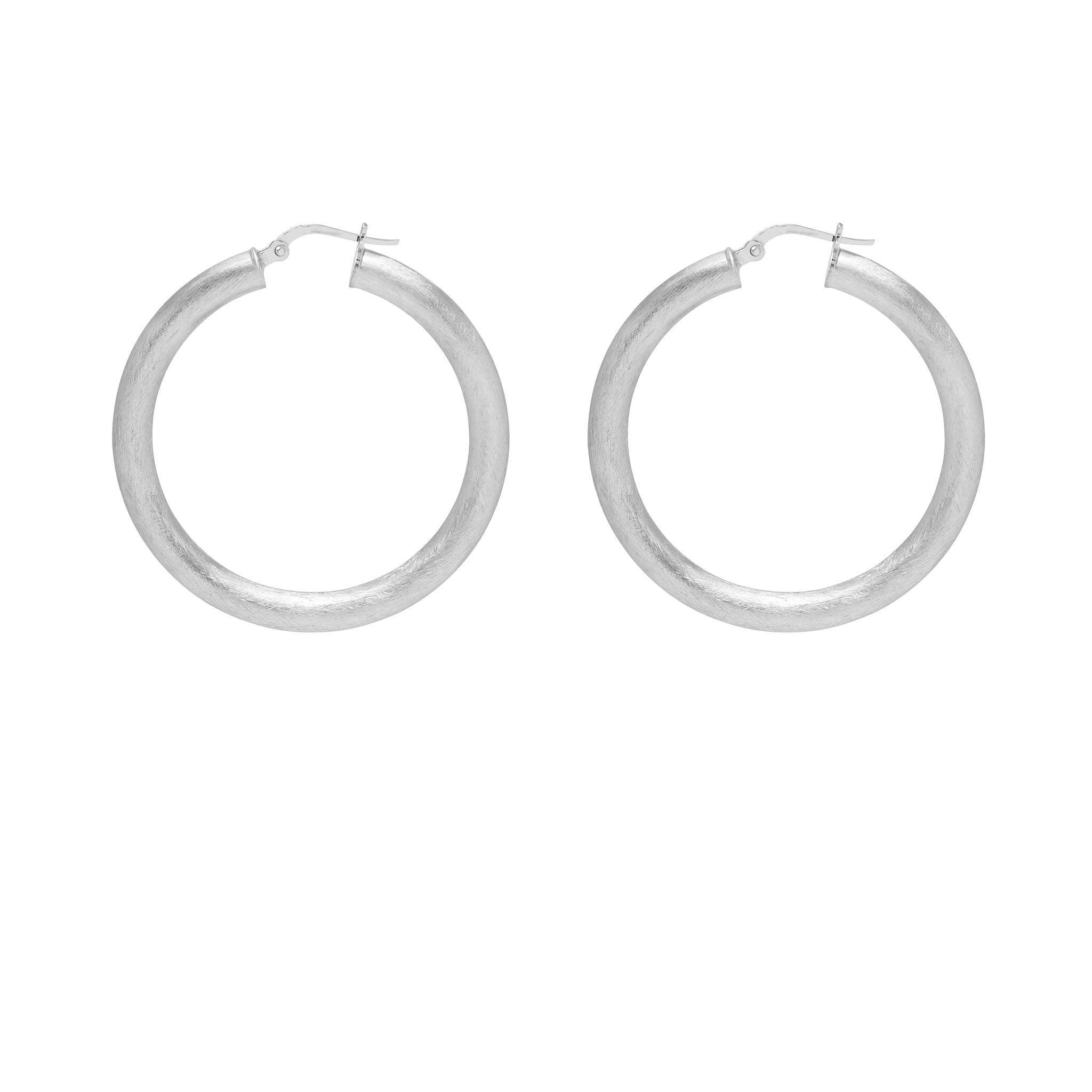 La ROUNDED SATINA Hoops - The Hoop Station 925 Sterling Silver Hoop Earrings Gold Huggies