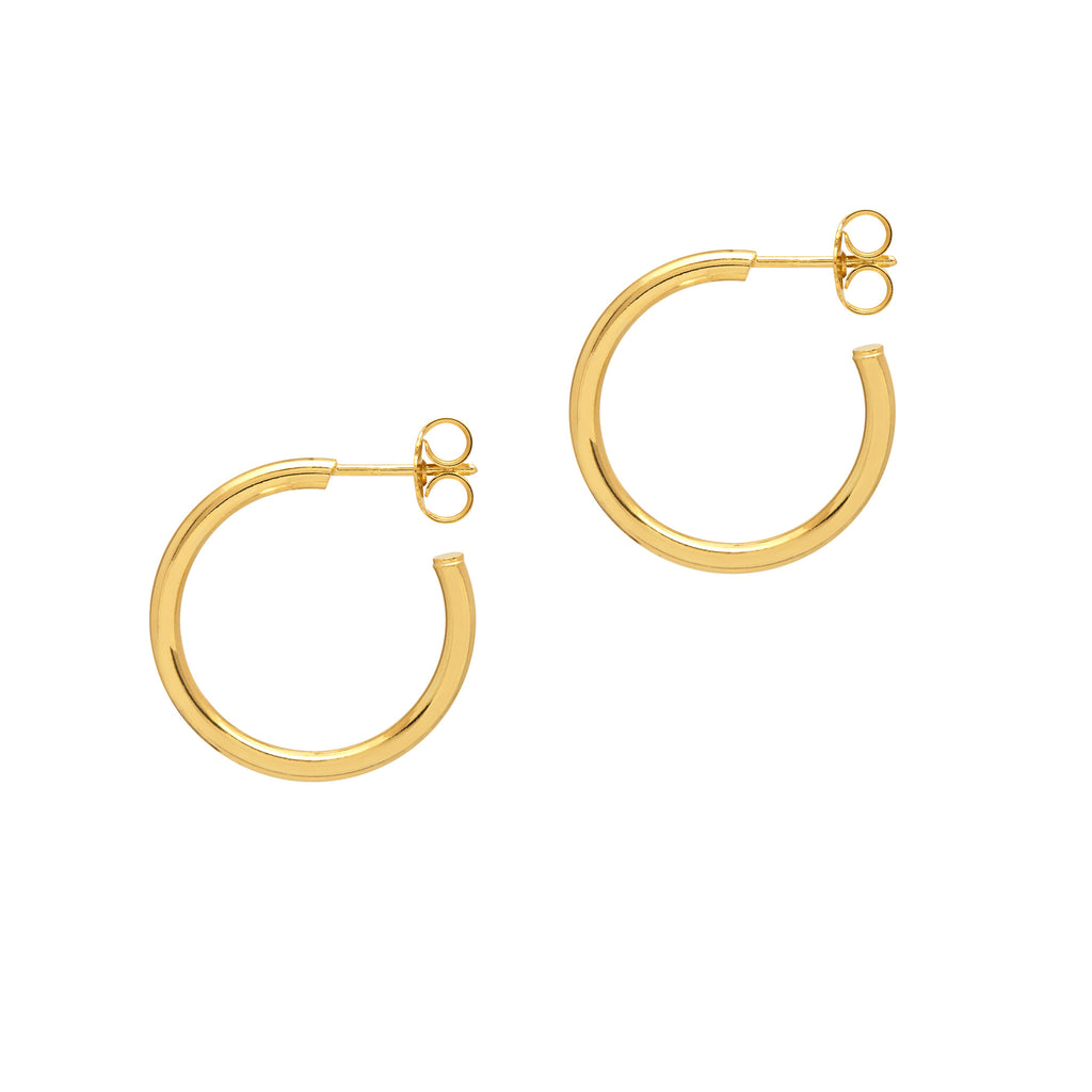"La ""SKINNY"" NAPOLI Hoop Earrings - Georgiana Scott Jewellery"