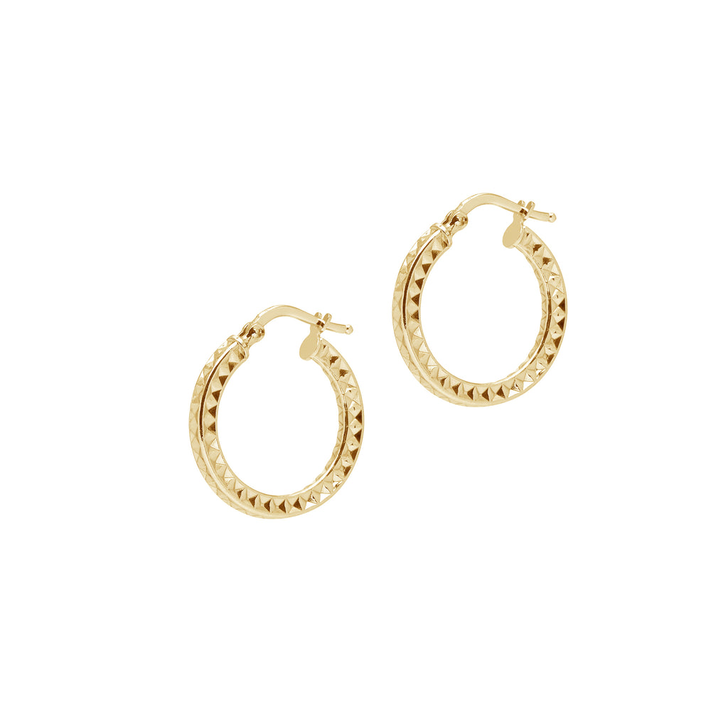 La AZTEC Hoops Silver - Georgiana Scott Jewellery