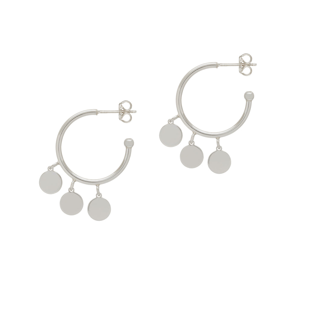 La TRIO DISCO CHARM Hoops - Silver - Georgiana Scott Jewellery