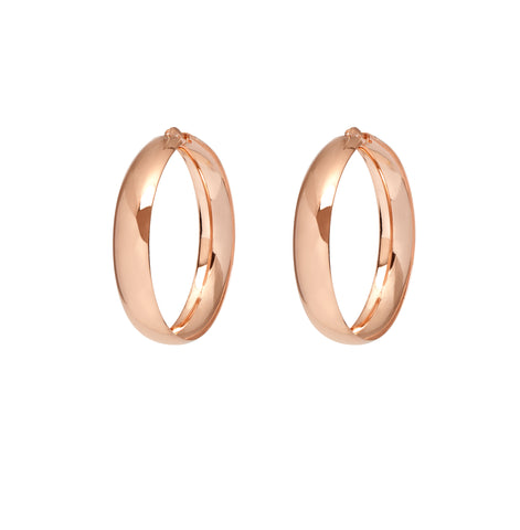 La VERONA GRANDE Hoops Rose Gold