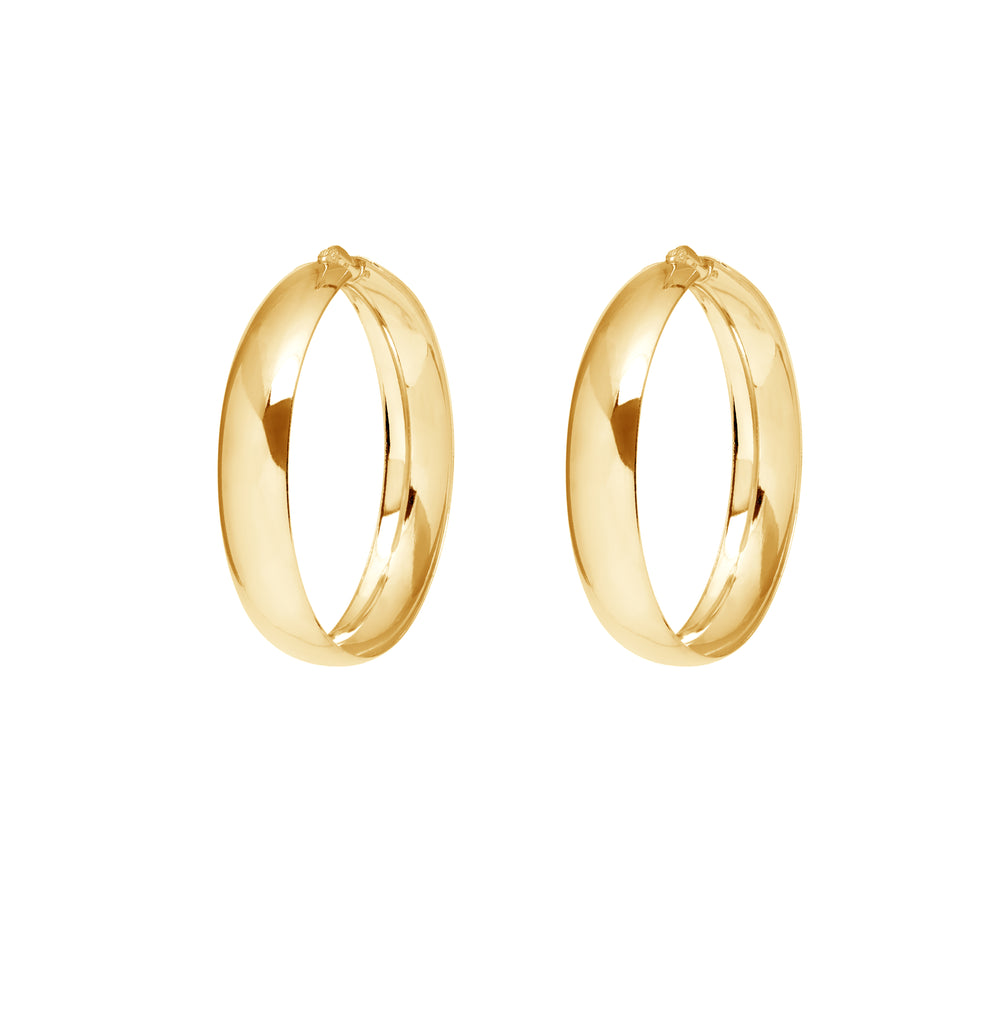 La VERONA Hoops Silver - SALE - Georgiana Scott Jewellery