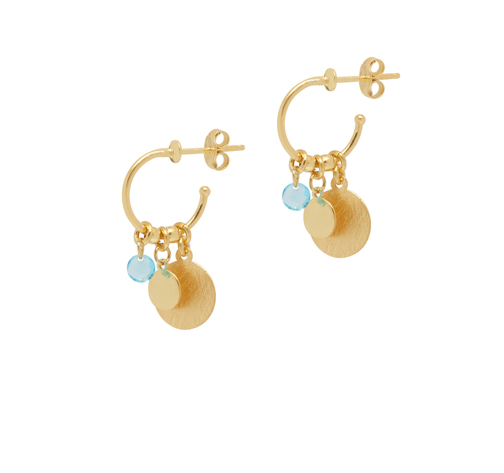 La SATINA ACQUA Hoops - Sale - Georgiana Scott Jewellery