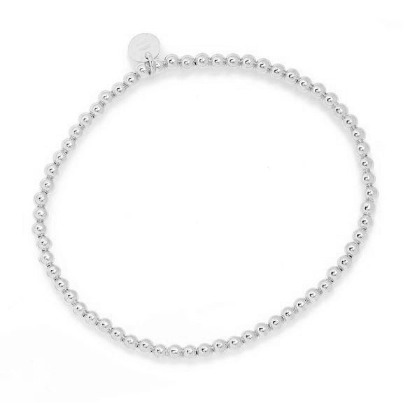 La BALL STRETCHY Silver Bracelet
