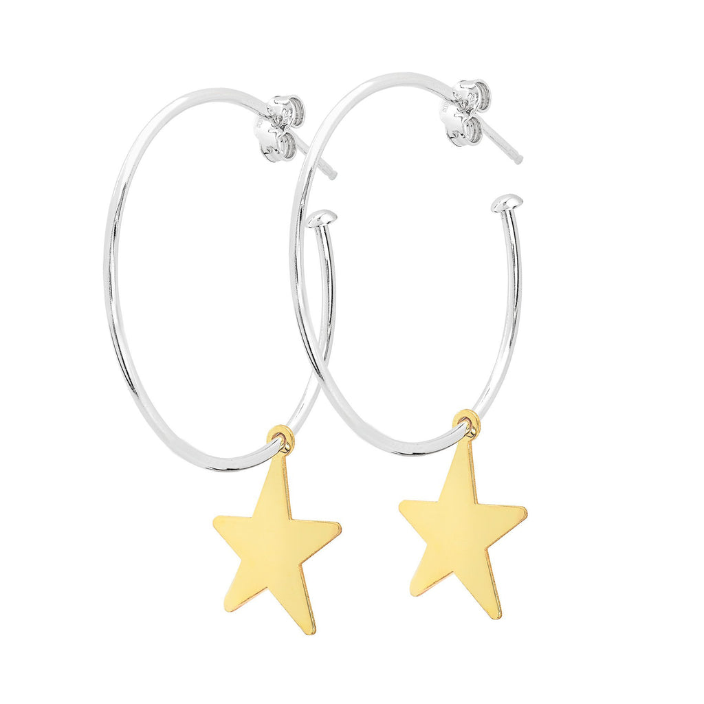 La STELLA 'Star Charm' Hoops - Georgiana Scott Jewellery