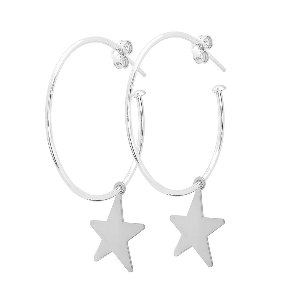 La STELLA Hoops - Silver - Georgiana Scott Jewellery