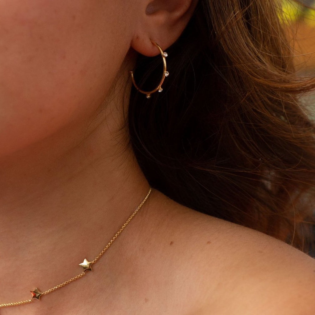 La SPARKLES of Hoopyness - Silver or Gold - Georgiana Scott Jewellery
