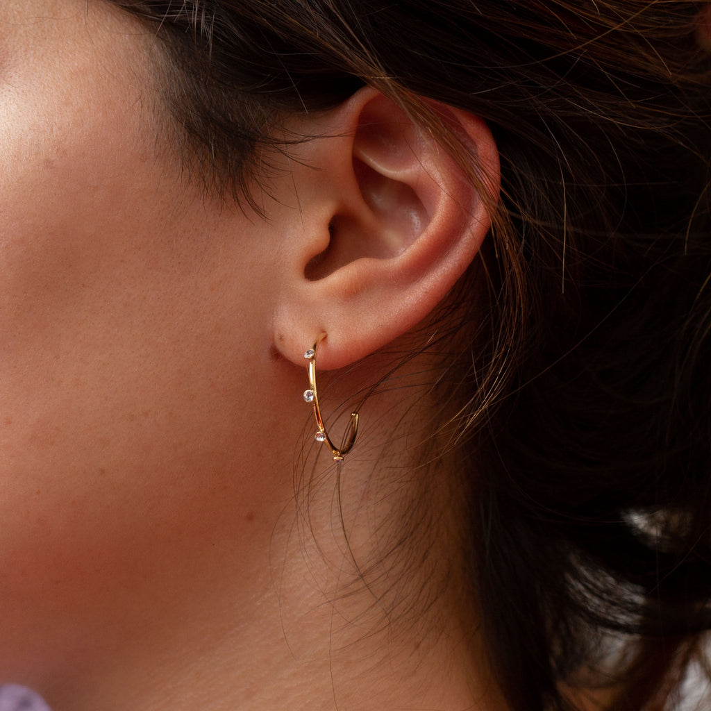 La SPARKLE HOOPS - Georgiana Scott Jewellery