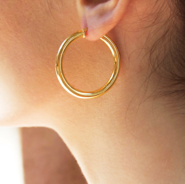 La TUBO Hoops Rose Gold