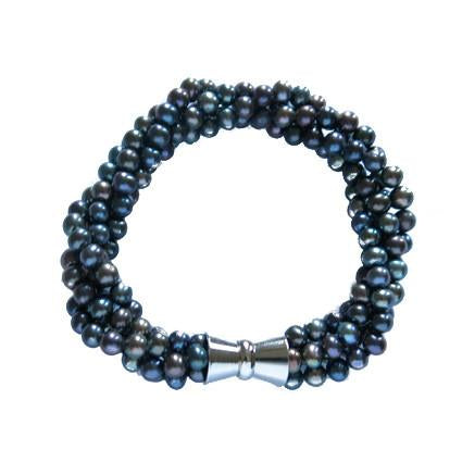 La PALOMA MULTI - Blackberry Pearl Bracelet - Georgiana Scott Jewellery