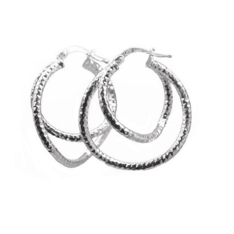 La CHISELLED WAVE Hoops